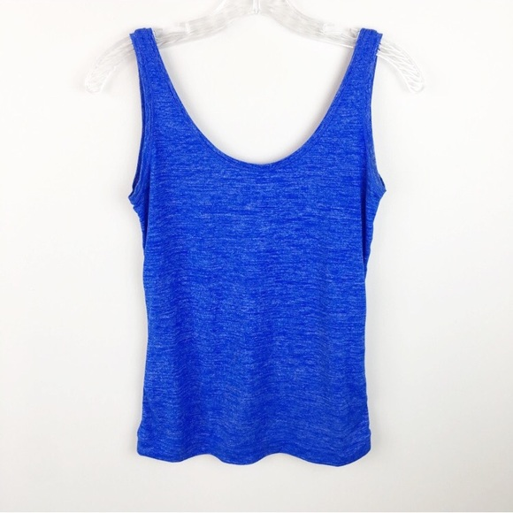 23625e244f1a33 Athleta heather blue low back workout tank top XS